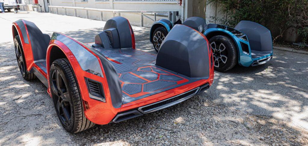 Ree's flat, modular vehicle design. Photo: Ree