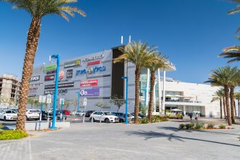 A shopping mall in Eilat with Israeli brands. Deposit Photos