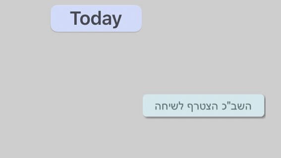 The message reads 'The Shin Bet joined the conversation.'