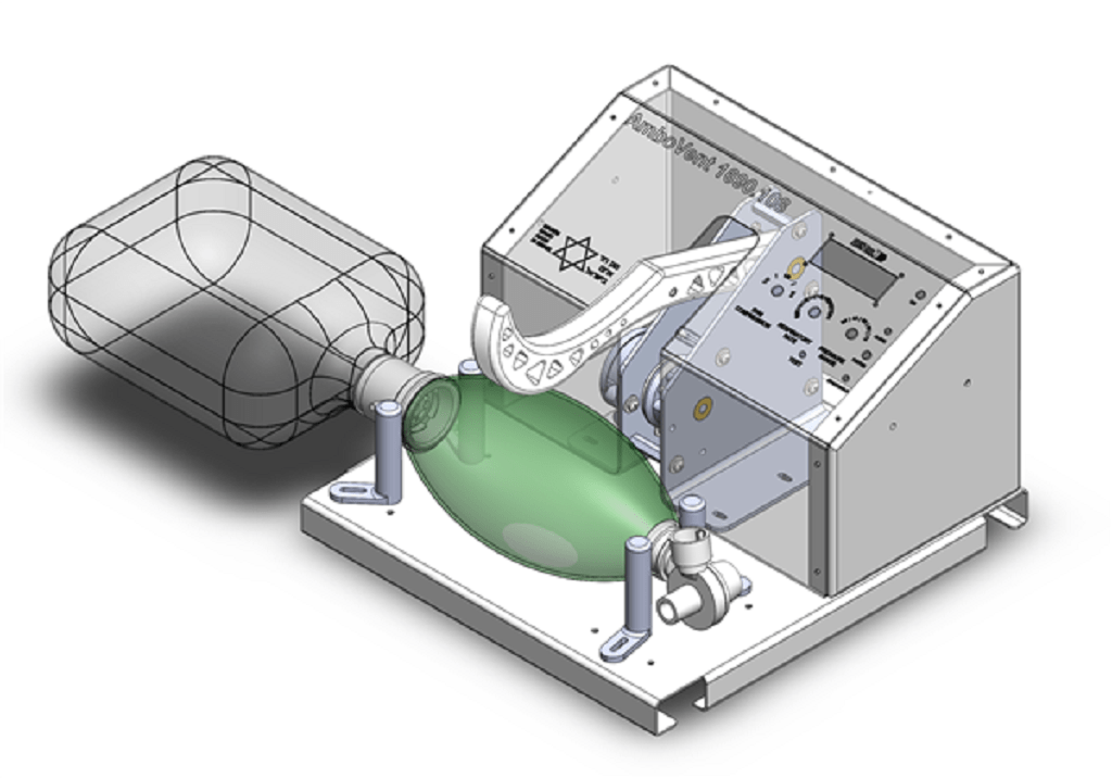 A mock-up of the AmboVent. Courtesy