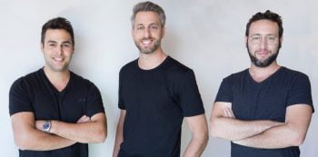 Hotelmize co-founders from left to right: Omry Litvak, Dor Krubiner, and Guy Levitan. Photo: Guy Koshi