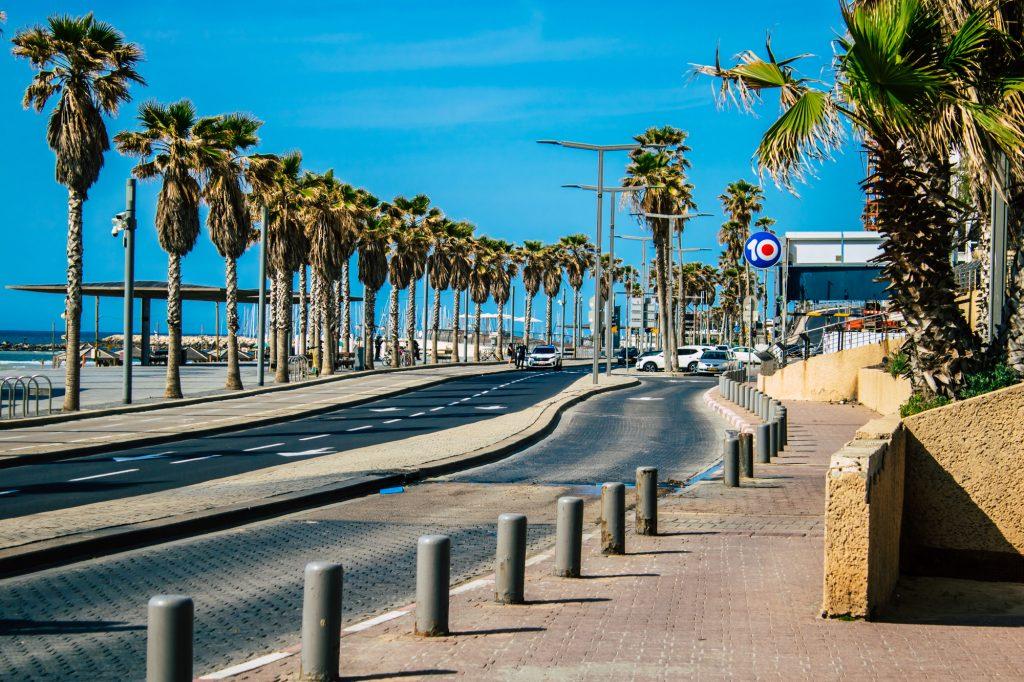 The Tel Aviv promenade on April 4, 2020 in the midst of the coronavirus lockdown. Deposit Photos