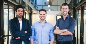 D-ID founders from left to right: Eliran Kuta, Gil Perry and Sella Blondheim. Photo: Inbar Levi