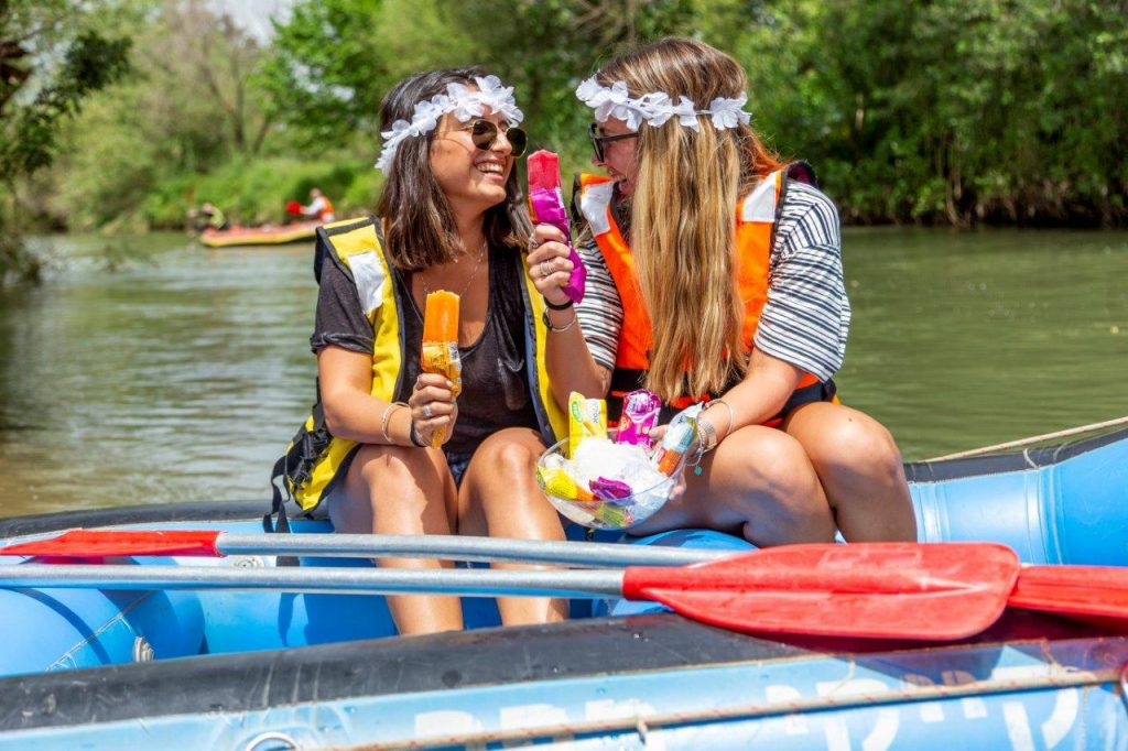 Kayaking in Kfar Blum. Photo: Gilad Shoshan