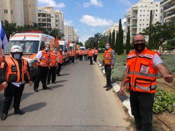 United Hatzalah volunteers. Photo: United Hatzalah